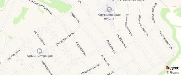 Новая улица на карте села Крутого Лога с номерами домов