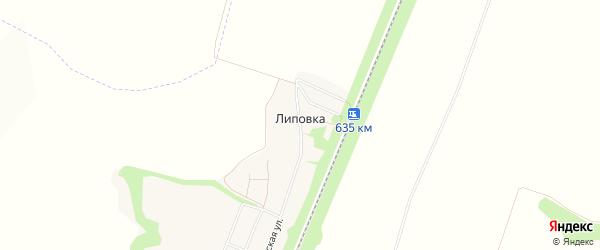 Карта хутора Липовки в Белгородской области с улицами и номерами домов