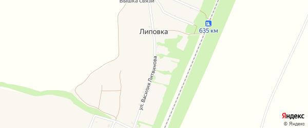 Октябрьская улица на карте хутора Липовки с номерами домов