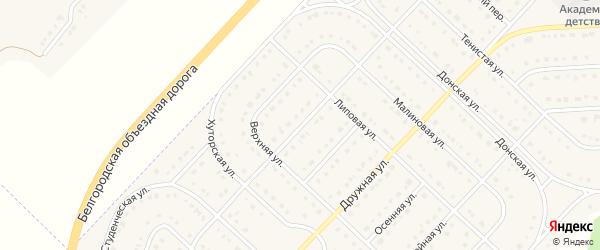 Липовый переулок на карте поселка Разумного с номерами домов