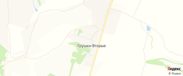 Карта хутора Грушки-Вторые в Белгородской области с улицами и номерами домов