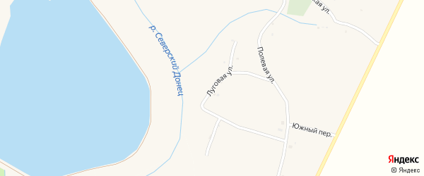 Луговая улица на карте села Кривцово с номерами домов