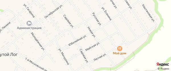 Юбилейная улица на карте села Крутого Лога с номерами домов