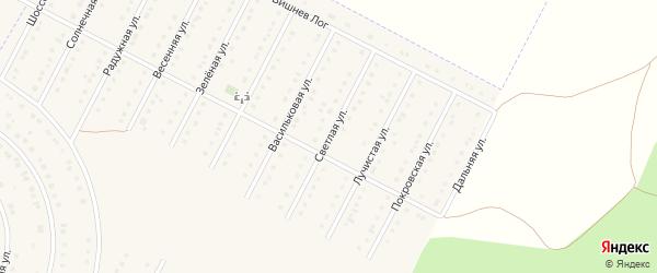 Светлая улица на карте села Севрюково с номерами домов
