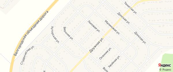 Красочная улица на карте поселка Разумного с номерами домов