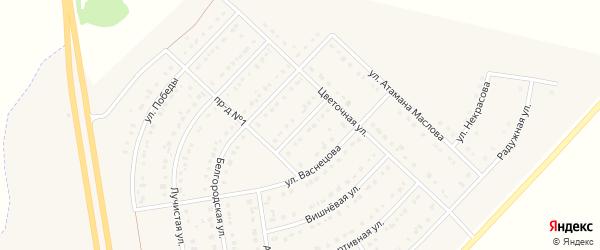 Земляничная улица на карте поселка Маслова Пристани с номерами домов