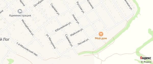 Майская улица на карте села Крутого Лога с номерами домов