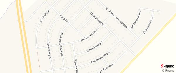 Улица Васнецова на карте поселка Маслова Пристани с номерами домов