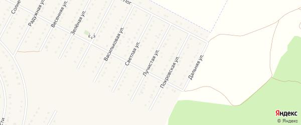 Лучистая улица на карте села Севрюково с номерами домов