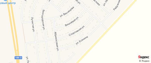 Спортивная улица на карте поселка Маслова Пристани с номерами домов