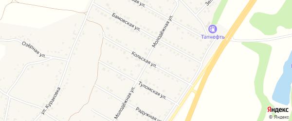 Кольская улица на карте села Дальней Игуменки с номерами домов