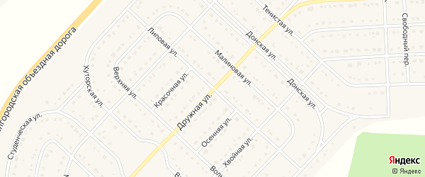 Липовая улица на карте поселка Разумного с номерами домов