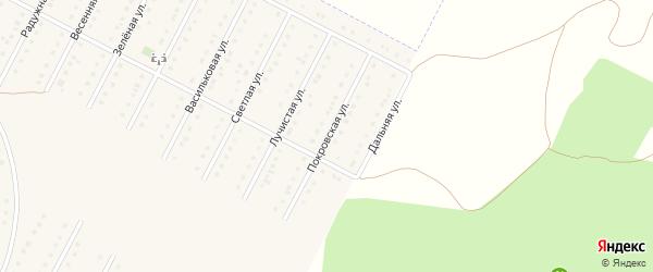 Покровская улица на карте села Севрюково с номерами домов