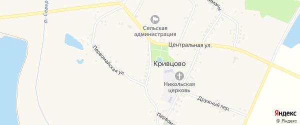Юбилейная улица на карте села Кривцово с номерами домов