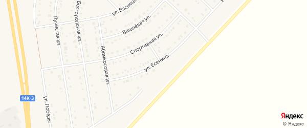 Улица Есенина на карте поселка Маслова Пристани с номерами домов