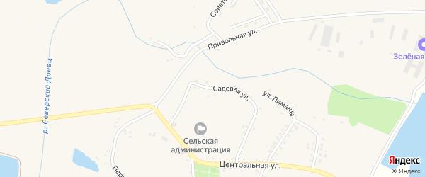 Садовая улица на карте села Кривцово с номерами домов