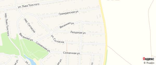Лазурная улица на карте поселка Прохоровка с номерами домов