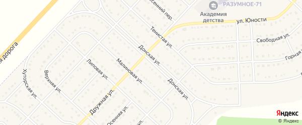 Донская улица на карте поселка Разумного с номерами домов