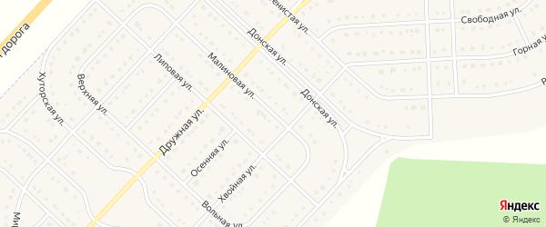 Малиновая улица на карте поселка Разумного с номерами домов