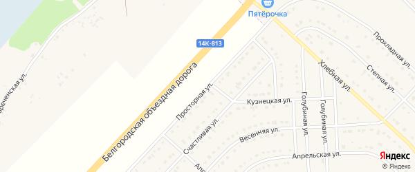 Просторная улица на карте поселка Разумного с номерами домов