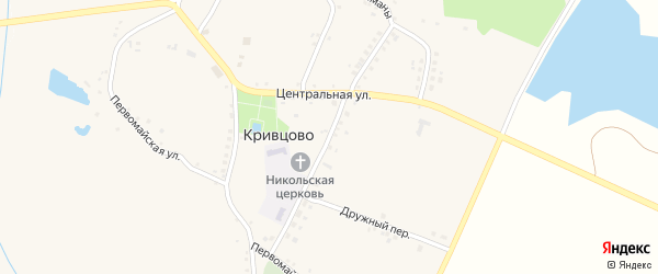 Молодежная улица на карте села Кривцово с номерами домов