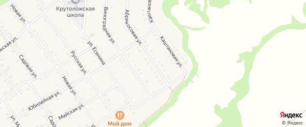 Абрикосовая улица на карте села Крутого Лога с номерами домов