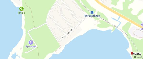Морская улица на карте поселка Маслова Пристани с номерами домов