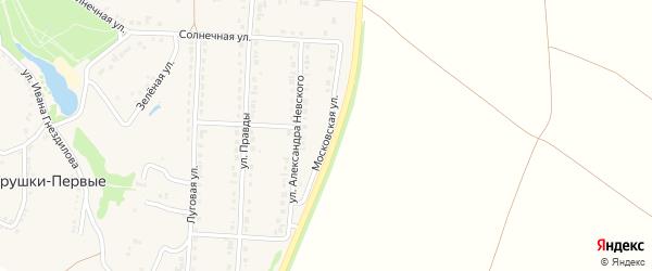 Московская улица на карте поселка Прохоровка с номерами домов