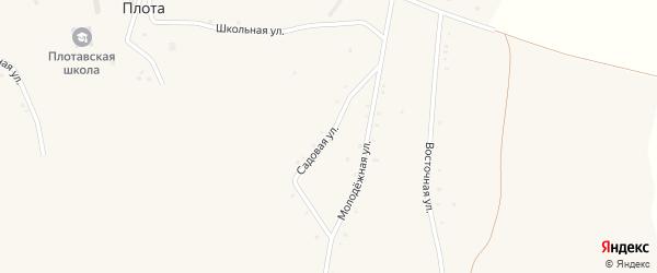 Садовая улица на карте села Плоты с номерами домов