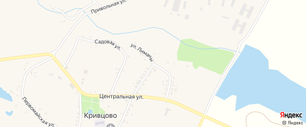 Улица Лиманы на карте села Кривцово с номерами домов