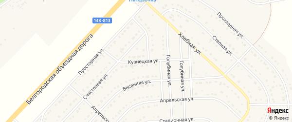 Кузнецкая улица на карте поселка Разумного с номерами домов