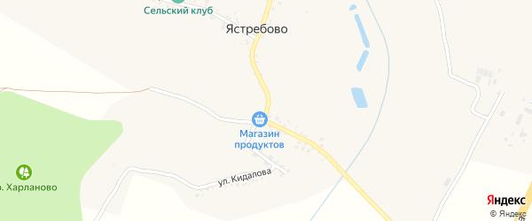 Улица Кидалова на карте села Ястребово с номерами домов