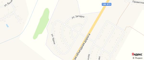 Улица Загадка на карте поселка Разумного с номерами домов
