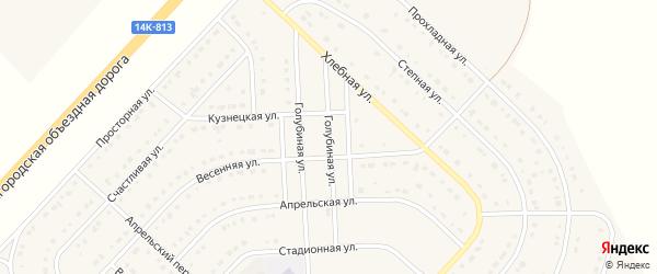 Голубиная улица на карте поселка Разумного с номерами домов