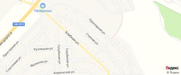 Степная улица на карте поселка Разумного с номерами домов