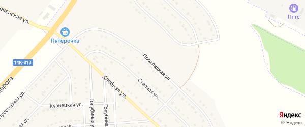 Прохладная улица на карте поселка Разумного с номерами домов