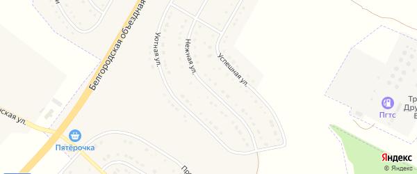 Нежная улица на карте поселка Разумного с номерами домов