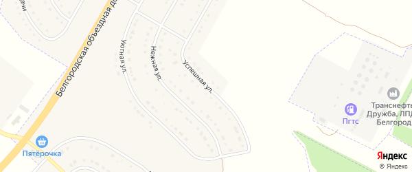 Успешная улица на карте поселка Разумного с номерами домов