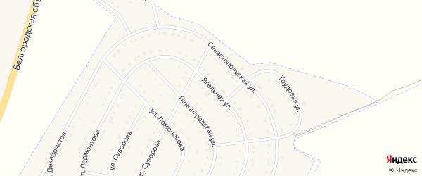 Ягельная улица на карте поселка Разумного с номерами домов