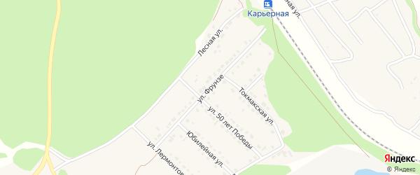 Улица Фрунзе на карте села Безлюдовки с номерами домов