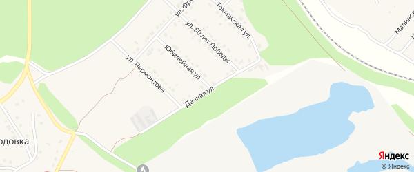 Дачная улица на карте села Безлюдовки с номерами домов
