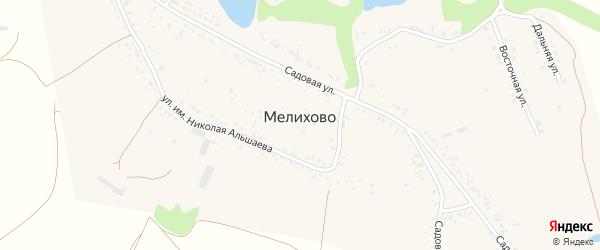 СНТ Изюминка на карте села Мелихово с номерами домов