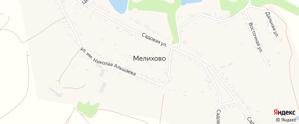 СНТ Крепыш на карте села Мелихово с номерами домов