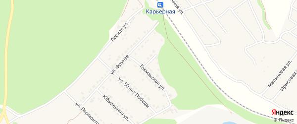 Токмакский переулок на карте села Безлюдовки с номерами домов