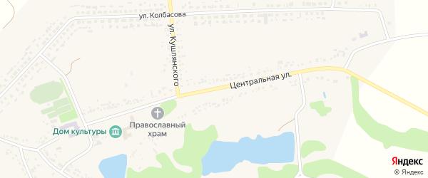Центральная улица на карте села Мелихово с номерами домов