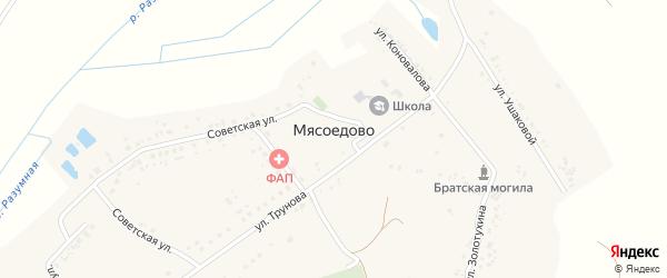 Улица Золотухина на карте села Мясоедово с номерами домов