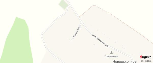 Тихий переулок на карте Новооскочного села с номерами домов