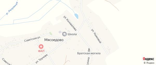 Улица Коновалова на карте села Мясоедово с номерами домов
