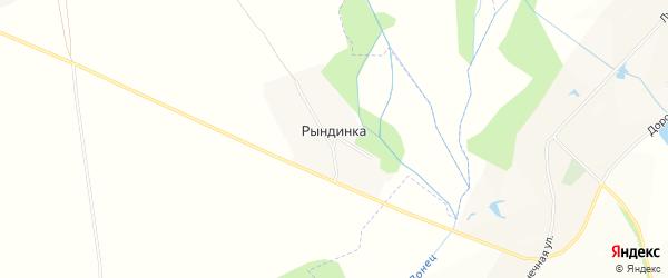 Карта хутора Рындинки в Белгородской области с улицами и номерами домов