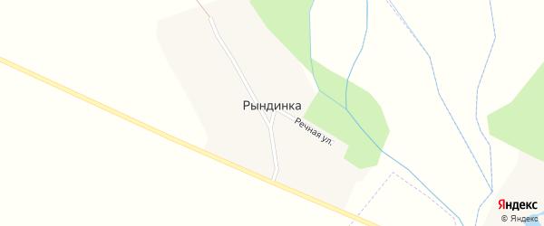 Речная улица на карте хутора Рындинки с номерами домов